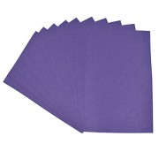 Asian Hobby Crafts A4 Felt Sheet for Craft Projects, Purple (Pack of 10)