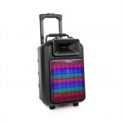 "Ibiza POWER8""ED-MKII, 120 W, преносенPA репродуктор, bluetooth, USB/SD, FM, акумулатор (POWER8LED-MKII)"