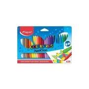 Giz de Plástico Color Peps Estojo 24 Cores, Maped 45, Multicor