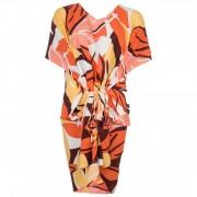 Seafolly - Cut Copy Kaftan - Robe taille One Size, beige/rouge/orange