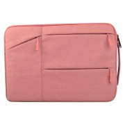 Universal Multiple Pockets Wearable Oxford Cloth Soft Portable Simple Business Laptop Tablet Bag For 12 inch and Below Macbook Samsung Lenovo Sony DELL Alienware CHUWI ASUS HP (Pink)