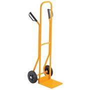 QUIPO Stahlrohrkarre - Tragfähigkeit 200 kg, Vollgummibereifung - Schaufelmaße BxT 280 x 255 mm