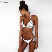 2018 New Sexy Bikinis Women Swimwear Push Up Swimsuit Halter Top Biquini Padded Bathing Suit Bandage Brazilian Bikini Set