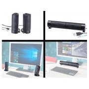 2in1-PC-Stereo-Lautsprecher und Soundbar, 10 Watt, USB-Stromversorgung