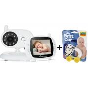 Pachet promo:Baby Monitor Audio Video, Wireless Nanny + Masinuta eccologica, interactiva Caprita