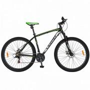 Bicicleta de munte MTB-HT 29 inch CARPAT Wrangler, cadru aluminiu, transmisie Shimano 21 viteze, negru/verde