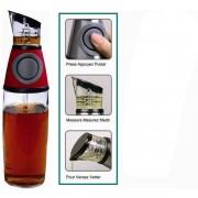 Dispenser din sticla cu gradatii pentru ulei si otet Press and Measure