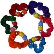 Adbeni Colourful Soft Cloth Coated Rubber Hairbands Good Choice