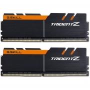 Memoria Ram DDR4 G.SKILL TRIDENT Z 3200MHz KIT 2x 8GB 1.35V C16 NEGRO / NARANJA F4-3200C16D-16GTZKO