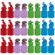 24 Pack Party Favors for Kids - Dinosaur Party Supplies - Play Bubbles - Bubble Wand Party Supplies for Kids Parties, Celebrations, Birthdays, 4 Colors, 17.4ml (0.6oz), 1.25 x 3 x 1.25 Inches