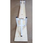 Banca gimnastica lemn 2 m, cu picioare metalice