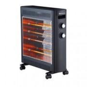 Халогенен отоплител Rohnson R 8012, 2 степени, регулируем термостат, защита от прегряване, 2200W, черен