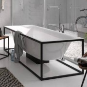 Bette Lux Shape Sonderform Badewanne inkl. Rahmengestell L:170 B:75cm weiß 3451-000+Q001-815