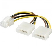 Cablu alimentare 2xMolex - 6pini PCI Express