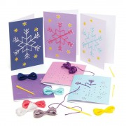 Baker Ross Snowflake Threading Card Kits (Pack of 6)