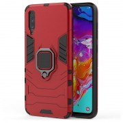 Samsung Galaxy A70 Hybrid Case with Ring Holder - Red