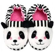 Efeng Pantuflas de felpa suave para niños y niñas con diseño de animales, cálidas y cálidas botas de invierno para interiores y casas, calcetines ligeros, suela antideslizante para niños pequeños, Panda, 11-12 Toddler