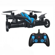 Kiditos LH-X21 (2 in 1) Air & Ground Mode RC Quadcopter Flying Car with 3D Flip Headless Mode One-Key Return Drone (No Camera) (Black/Blue)
