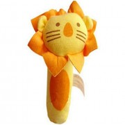 Soft Plush Animal Baby Rattle Toy Take Along with Safety Baby Rattles Soft Animal Baby Hand Rattle Toys Early Development Toys Lion Style Color Yellow and Orange