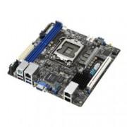 Дънна платка за сървър Asus P10S-I, LGA1151, DDR4 UDIMM, 2x LAN + 1x Mgmt LAN, 6x SATA 6Gb/s, RAID 0,1,5,10, 2x USB 3.1 Gen1, 2x USB 2.0, Mini ITX