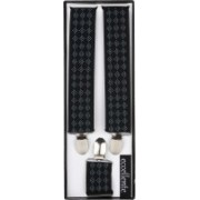 Eccellente Y- Back Suspenders for Men(Black)