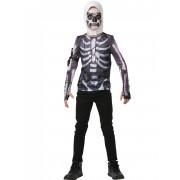Vegaoo.es Camiseta y pasamontañas Skull Trooper fortnite adolescente - 11-12 años (146/152)
