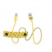 USB Tribe Minions Tom Lightning Cable - сертифициран Lightning кабел за iPhone, iPad и iPod с Lightning (120 см)