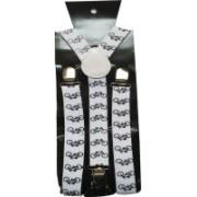 Swarn Y- Back Suspenders for Men(White)
