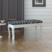 vidaXL Polstrovaná stolička k toaletnímu stolku dvoumístná, černá, 110 cm
