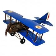 Avião Decorativo Médio Azul Oldway 22x60x56