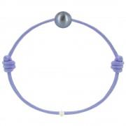 Les Poulettes Bijoux Bracelet La Perle de Culture Noire des Poulettes - Colors - Violet