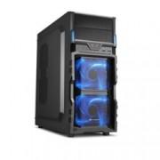 Кутия Sharkoon VG5-V, ATX/Micro ATX, USB 3.0, черна, подсветка, без захранване