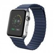 Apple PU leather loop Apple watch 42mm / 44mm bandje - Blauw