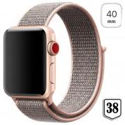 Apple Watch Series 4/3/2/1 Nylon Strap - 40mm, 38mm - Rose Gold