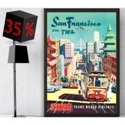 San Francisco - Díszkeretes vászonkép - 35x60 cm - AKCIÓ!