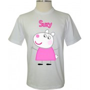 Camiseta Peppa Pig Suzy a Ovelha - Coleção Peppa Pig