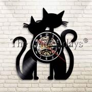 Horloge couple de chat