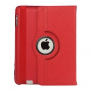 Mesh - iPad 2/3/4 Hoes - Rotatie Cover Lychee Rood