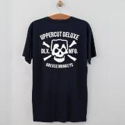 Uppercut Grease Monkey Lives T-Shirt - Navy/White Print - L - Navy/White