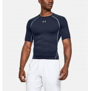 Under Armour Herenshirt UA HeatGear® Armour Compressie met korte mouwen - Mens - Navy - Grootte: Extra Large
