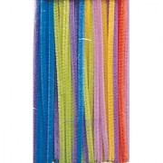 Creativity Street Chenille Stems/Pipe Cleaners 12 Inch x 6mm 100-Piece Hot Assorted Colors