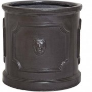 The Pot Co Clayfibre Lion Head Cylinder Planter Available in 5 Sizes