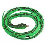 Merkloos Rubberen speelgoed gras slangen 117 cm