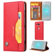 Capa Tipo Carteira para Sony Xperia XZ2 Compact da Série Card Set - Vermelha