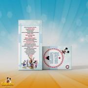 Invitaţie de botez Clubul lui Mickey Mouse
