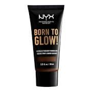 NYX Professional Makeup Born to Glow Naturally Radiant Foundation 30ml (Various Shades) - Chestnut