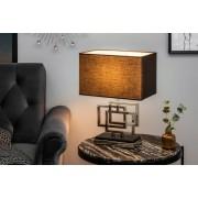 Dizajnová stolová lampa June, 56 cm, strieborná