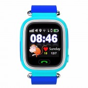 GPS Q90 1.22-inch Touch Screen Anti-lost Children Smart Watch Phone Support GPS, SOS Call, Pedometer - Blue