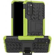 Samsung Galaxy S20 Hoesje - Rugged Kickstand - Groen