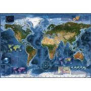 Puzzle HEYE - Harta Lumii - 2000 piese